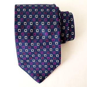 Bolgheri Recent Blue THICK Silk Designer Tie Italy